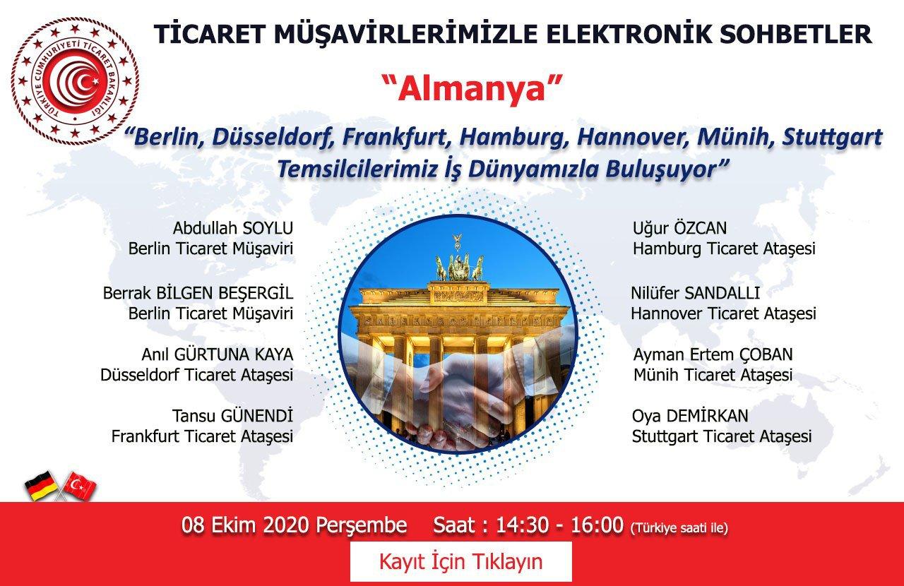 TİCARET MÜŞAVİRLERİMİZLE ELEKTRONİK SOHBETLER- ALMANYA