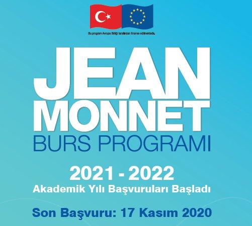 Jean Monnet Burs Programı 2021-2022 Akademik Yılı Başvuruları Başladı