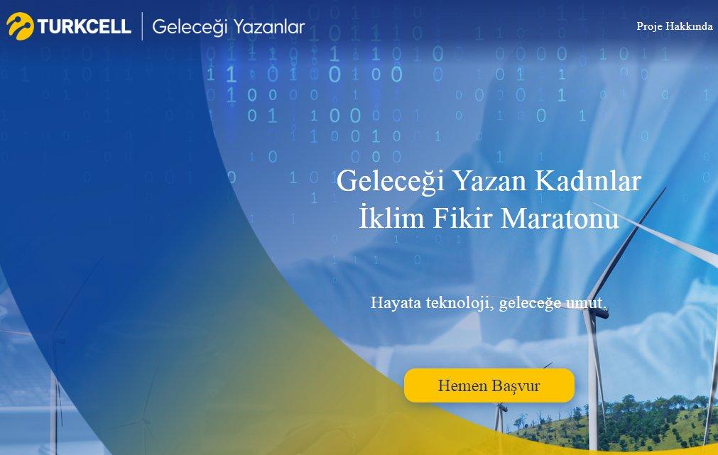 Turkcell Geleceği Yazan Kadınlar İklim Fikir Maratonu
