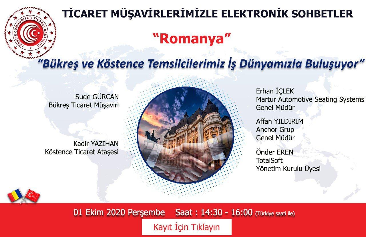 TİCARET MÜŞAVİRLERİMİZLE ELEKTRONİK SOHBETLER- ROMANYA