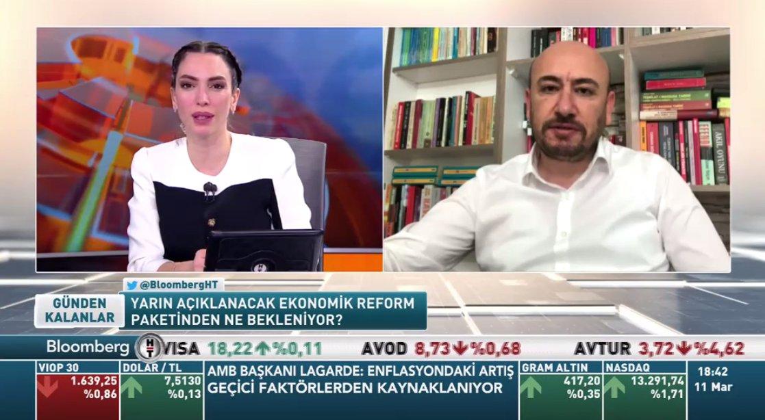 "AYTO BAŞKANI, BLOOMBERGHT ""GÜNDEN KALANLAR"" PROGRAMINDA"