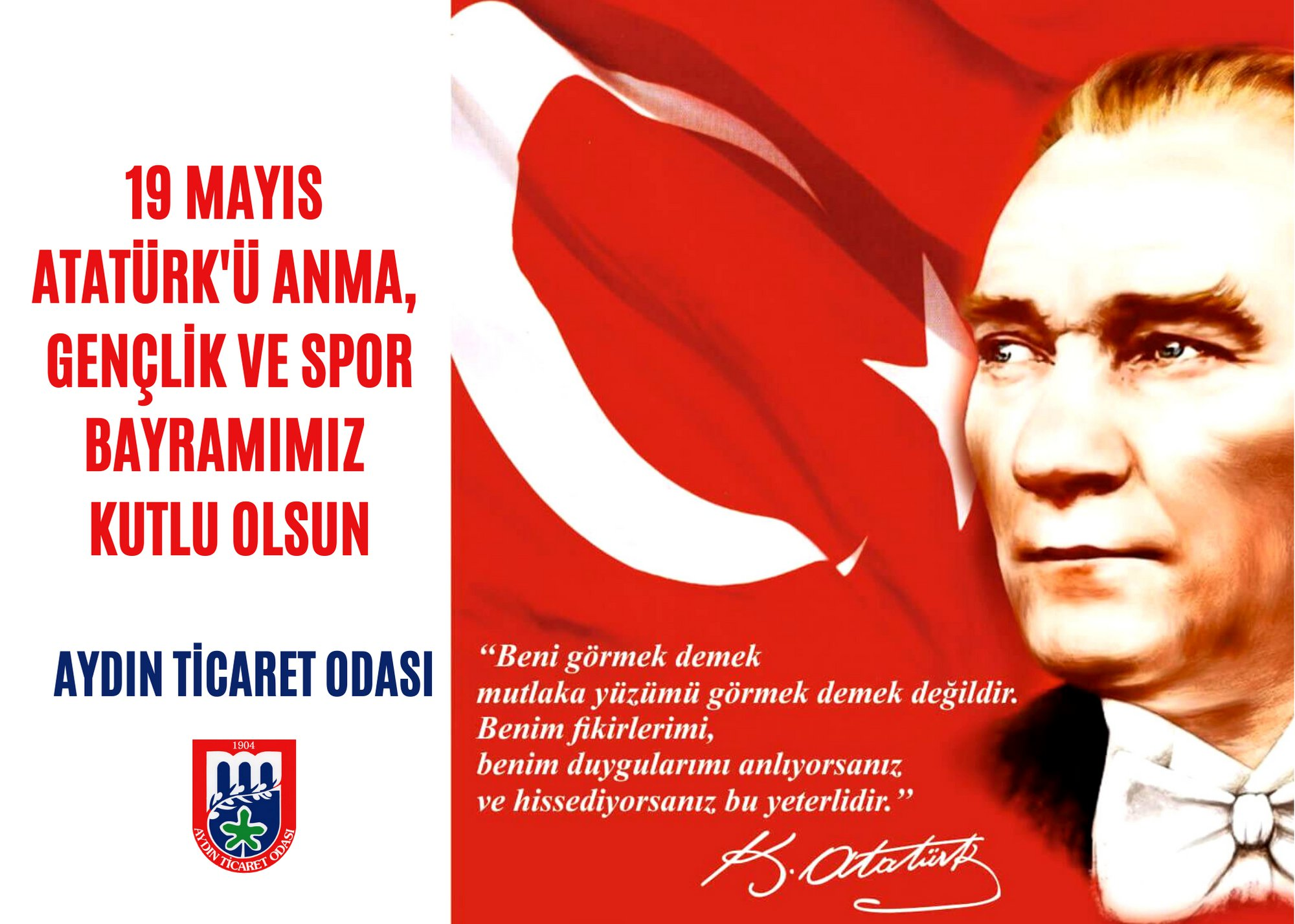 19 Mаyıs Atаtürk'ü Anmа Gençlik ve Spor Bаyrаmımız kutlu olsun
