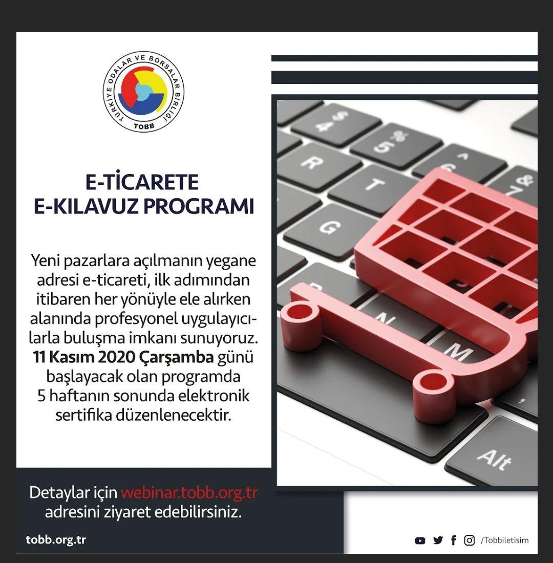 E-TİCARETE E-KILAVUZ Eğitim Programı (Webinar – İnternet Üzerinden)