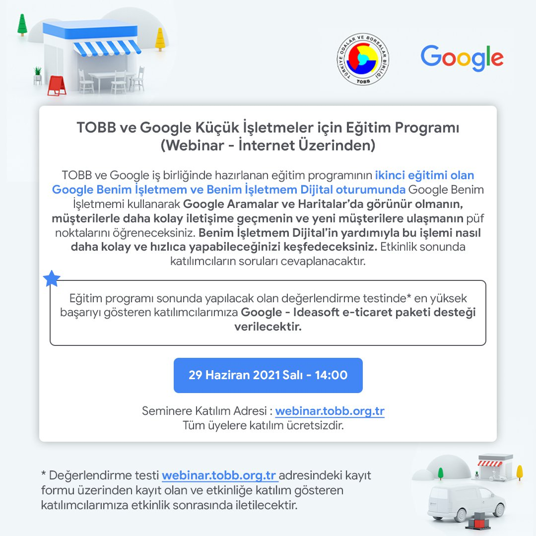 Google Benim İşletmem ve Benim İşletmem Dijital Oturumu