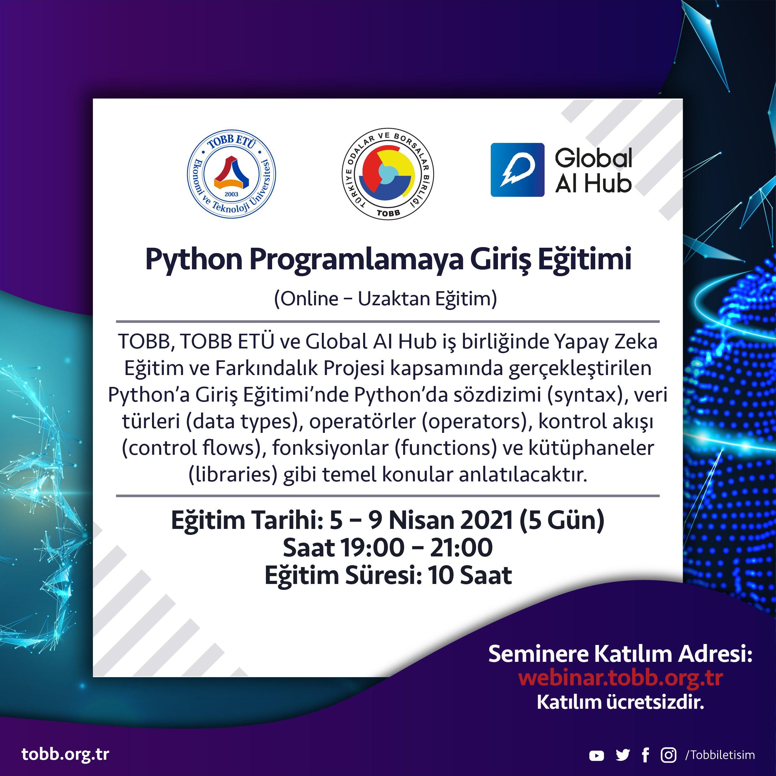 Python'a Giriş Eğitimi