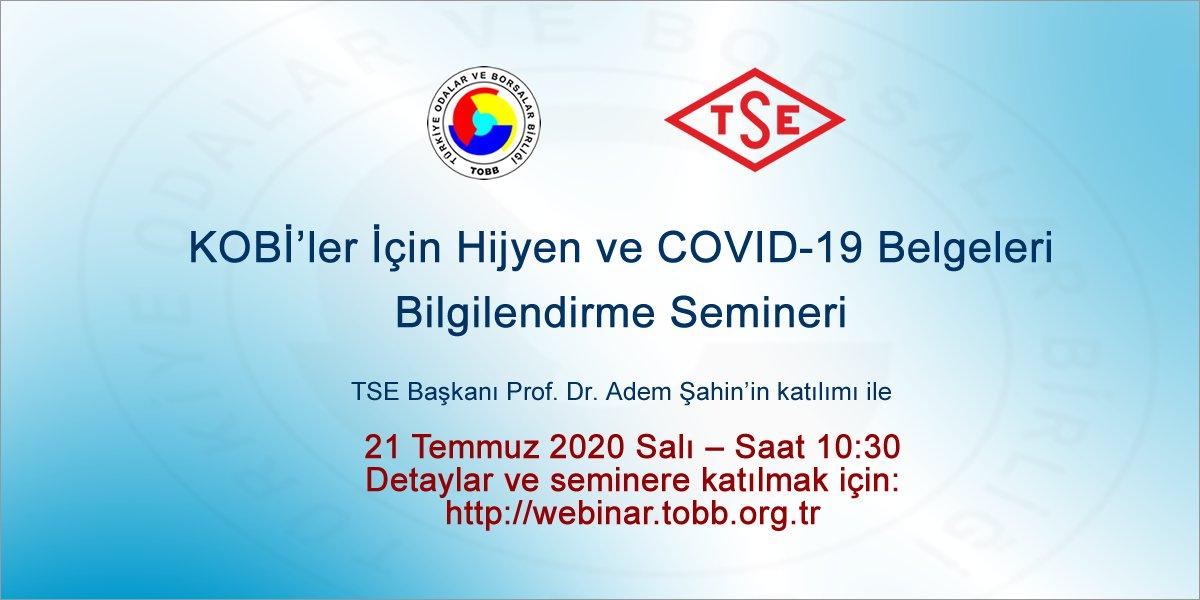 KOBİ'LER İÇİN HİJYEN VE COVID-19 BELGELERİ BİLGİLENDİRME SEMİNERİ
