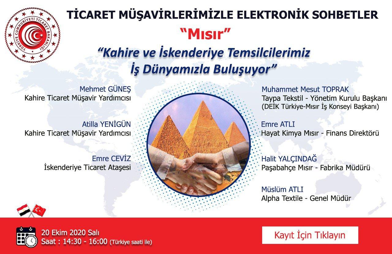 TİCARET MÜŞAVİRLERİMİZLE ELEKTRONİK SOHBETLER- MISIR