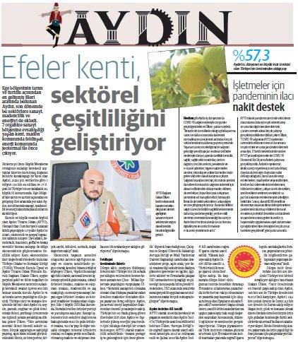 AYTO, Dünya Gazetesi, Ege Dünya yayınının Ekim sayısı Aydın Özel Bölümünde