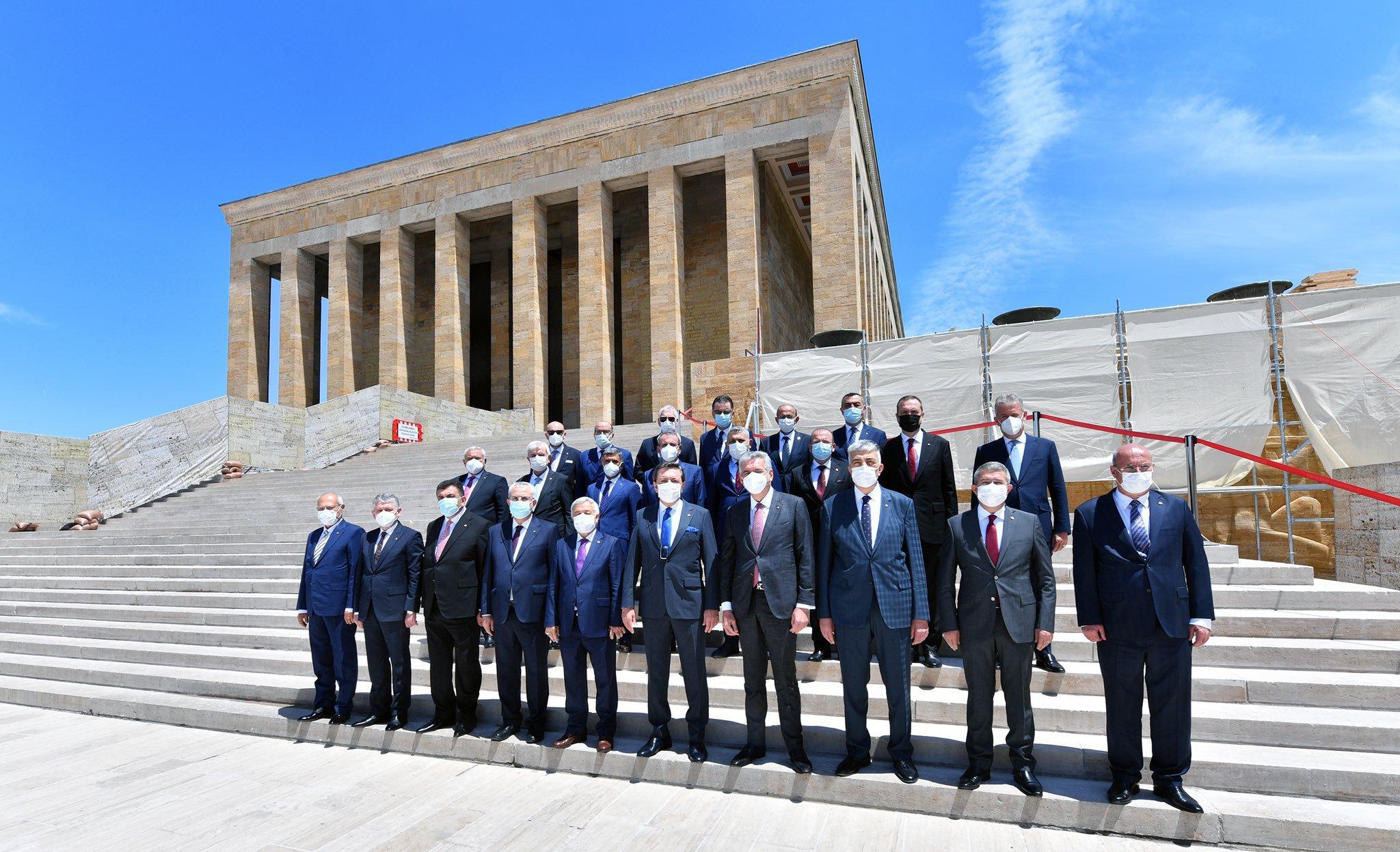 Türkiye Odalar ve Borsalar Birliği 76. ve 77. Genel Kurulu Anıtkabir Ziyareti