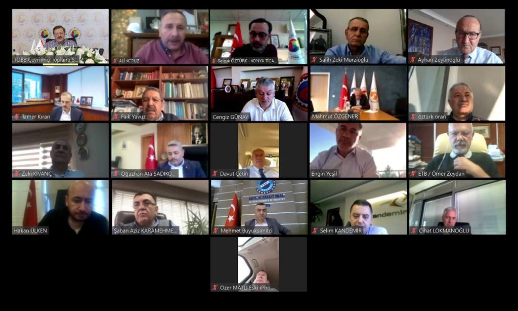TOBB Yönetim Kurulu Üyesi ve Odamız Başkanı Hakan ÜLKEN, videokonferans aracılığıyla gerçekleştirilen TOBB Yönetim Kurulu toplantısına katıldı.