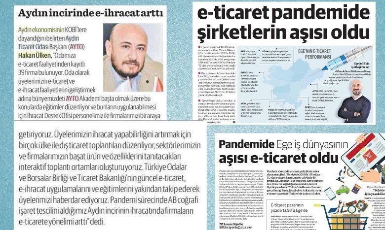 TOBB Yönetim Kurulu Üyesi ve AYTO Başkanı Hakan ÜLKEN,  Dünya Gazetesi, Ege Dünya yayınında