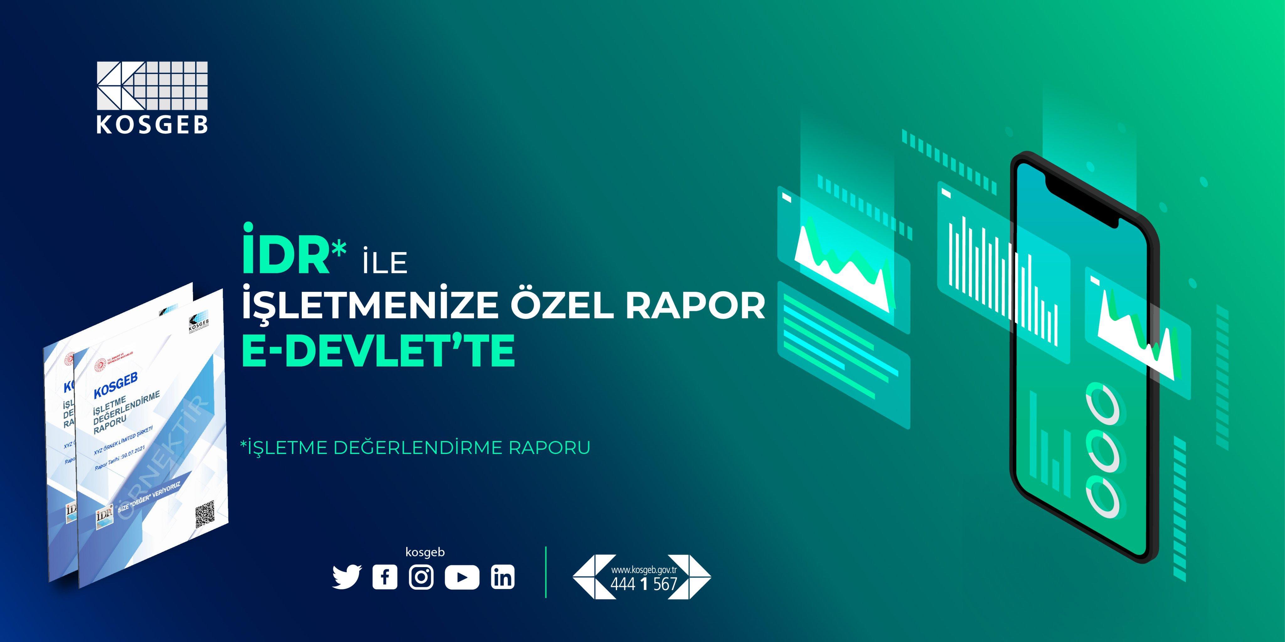 İŞLETMENİZE ÖZEL RAPOR E-DEVLET'TE