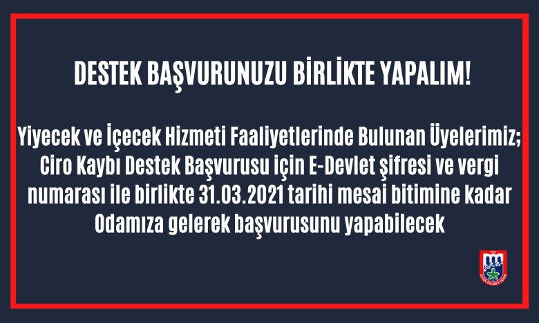 DESTEK BAŞVURUNUZU BİRLİKTE YAPALIM!