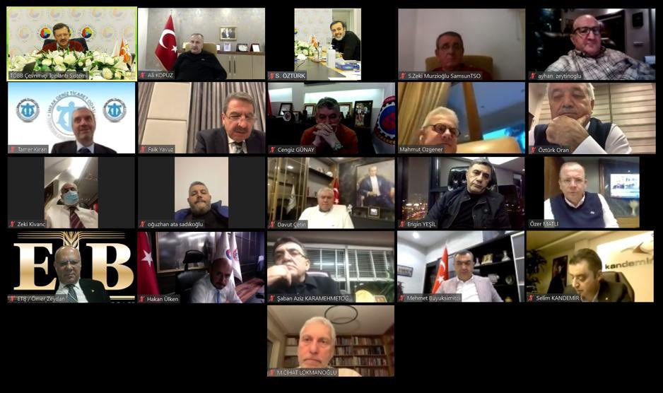 2021 yılının ilk Türkiye Odalar ve Borsalar Birliği Yönetim Kurulu Toplantısı