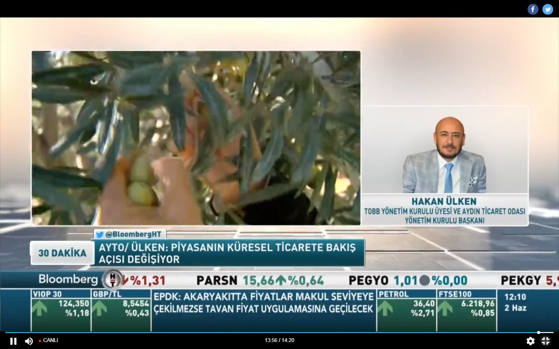 "AYTO BAŞKANI, BLOOMBERGHT ""30 DAKİKA"" PROGRAMINDA"